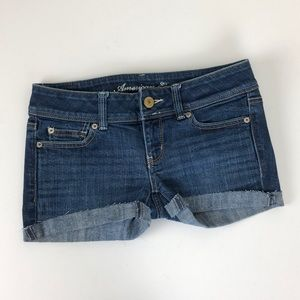 American Eagle Outfitters raw cuffed denim shorts